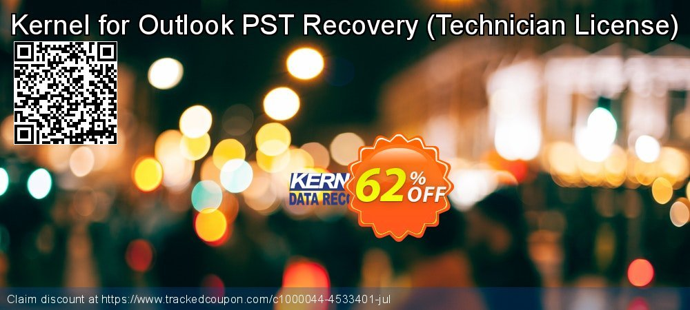 Kernel for Outlook PST Recovery - Technician License coupon on Halloween deals