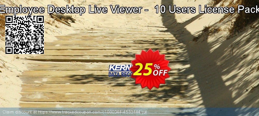Employee Desktop Live Viewer -  10 Users License Pack coupon on Halloween promotions