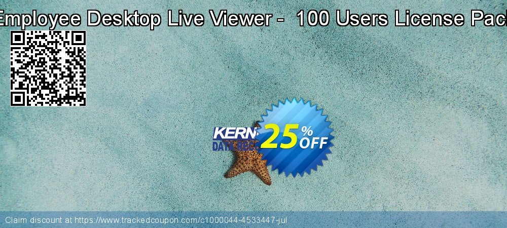 Employee Desktop Live Viewer -  100 Users License Pack coupon on Black Friday discount