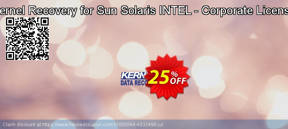 Kernel Recovery for Sun Solaris INTEL - Corporate License coupon on Halloween super sale