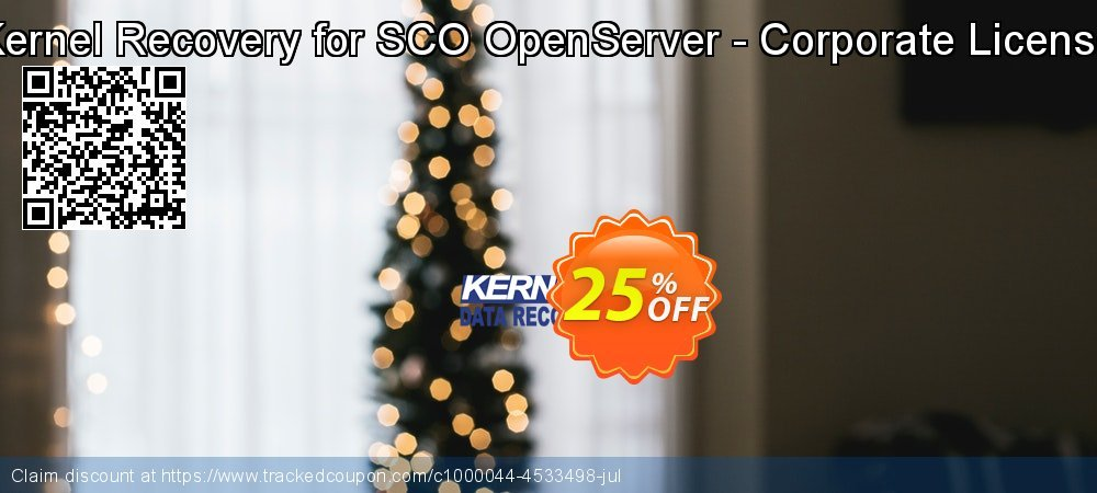 Kernel Recovery for SCO OpenServer - Corporate License coupon on Halloween promotions