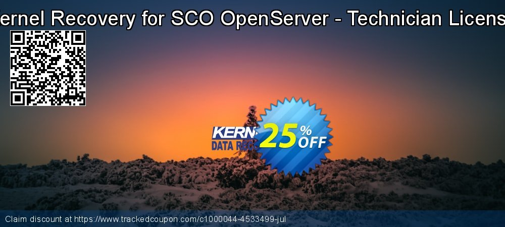 Kernel Recovery for SCO OpenServer - Technician License coupon on Halloween sales