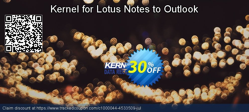 Kernel for Lotus Notes to Outlook - Corporate License  coupon on Halloween deals