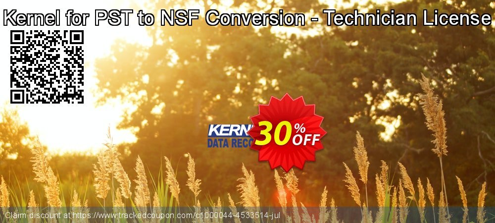 Kernel for PST to NSF Conversion - Technician License coupon on Valentine's Day discounts