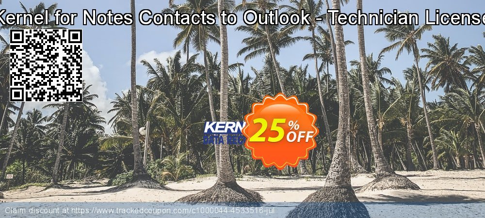 Kernel for Notes Contacts to Outlook - Technician License coupon on Halloween promotions