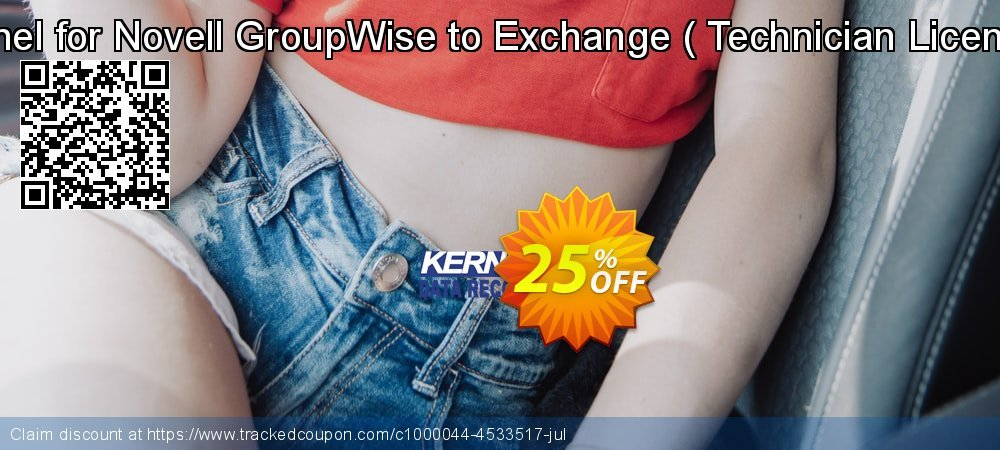 Kernel for Novell GroupWise to Exchange -  Technician License   coupon on Read Across America Day offer