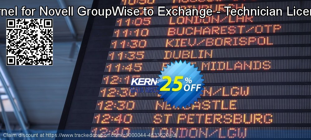 Kernel for Novell GroupWise to Exchange - Technician License coupon on Valentine Week offering discount