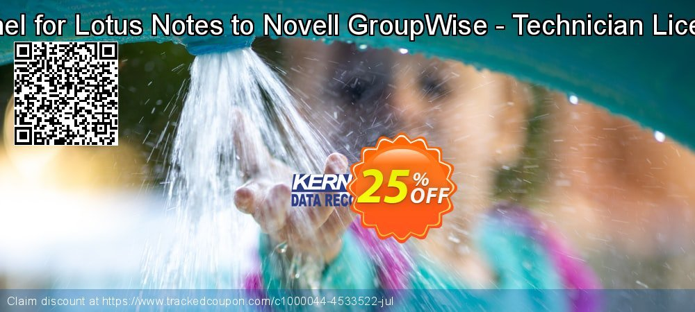 Kernel for Lotus Notes to Novell GroupWise - Technician License coupon on Halloween offering sales