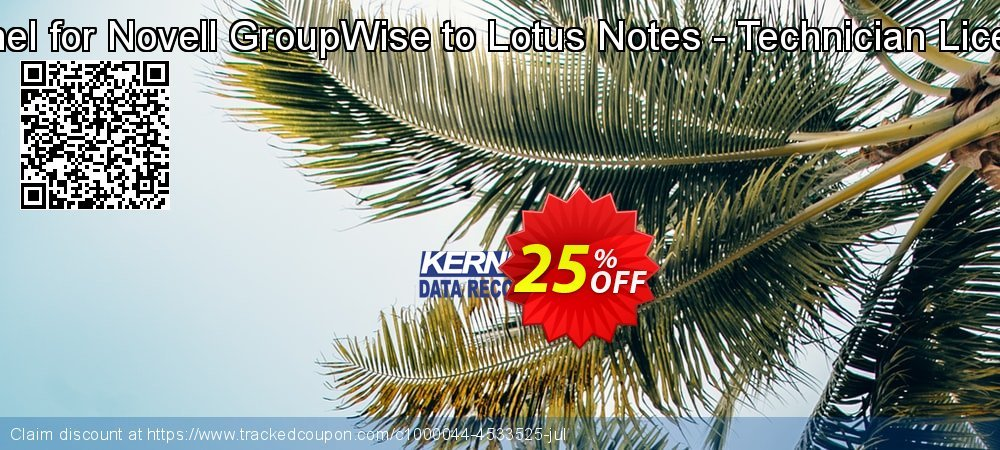 Kernel for Novell GroupWise to Lotus Notes - Technician License coupon on Valentine Week sales