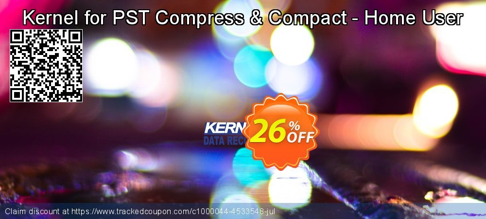 Kernel for PST Compress & Compact - Home User coupon on Halloween offering discount