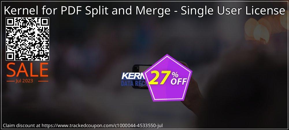 Kernel for PDF Split and Merge - Single User License coupon on Halloween super sale