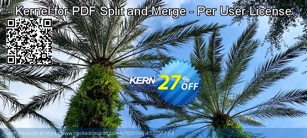Kernel for PDF Split and Merge - Per User License coupon on Natl. Doctors' Day sales