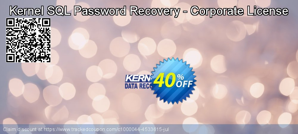 Kernel SQL Password Recovery - Corporate License coupon on Valentine Week sales