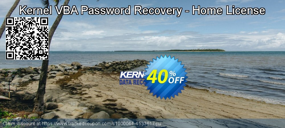 Kernel VBA Password Recovery - Home License coupon on Super bowl offer