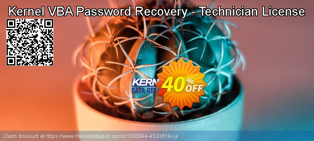 Kernel VBA Password Recovery - Technician License coupon on Valentine's Day offering discount