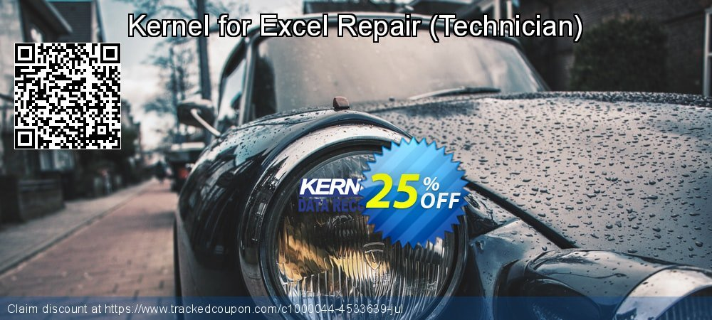 Get 20% OFF Kernel Recovery for Excel - Technician License offering sales
