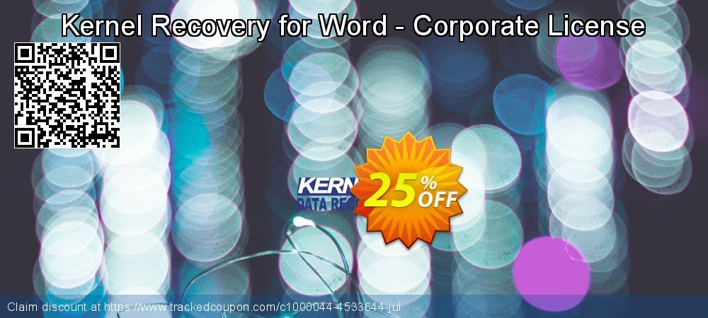Kernel Recovery for Word - Corporate License coupon on Valentine's Day offer