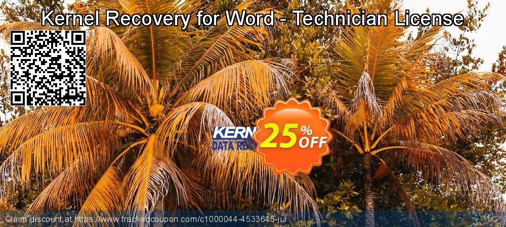 Kernel Recovery for Word - Technician License coupon on Halloween offer