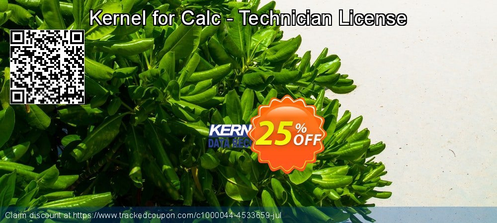 Get 20% OFF Kernel for Calc - Technician License offering sales