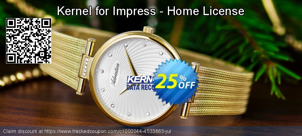 Kernel for Impress - Home License coupon on Int'l. Women's Day offering discount
