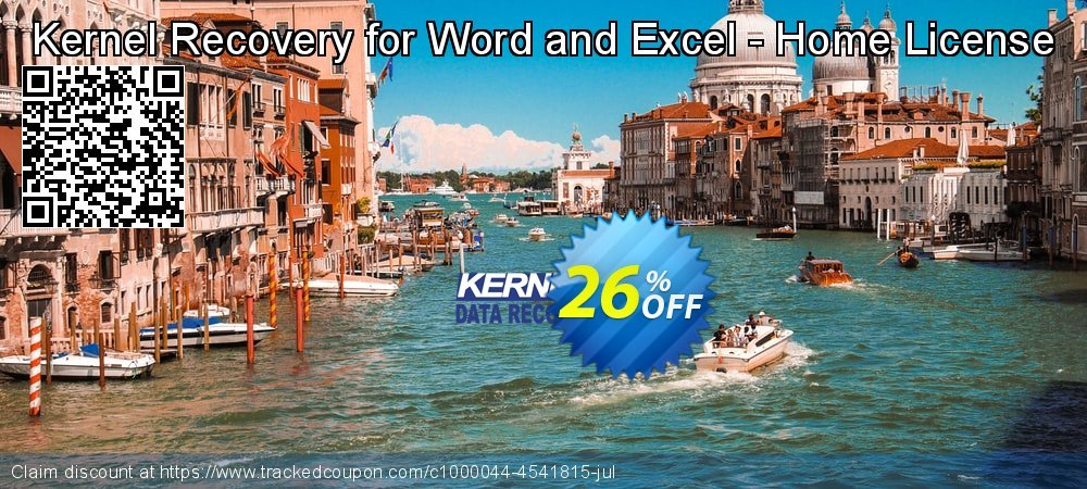 Kernel Recovery for Word and Excel - Home License coupon on Halloween sales