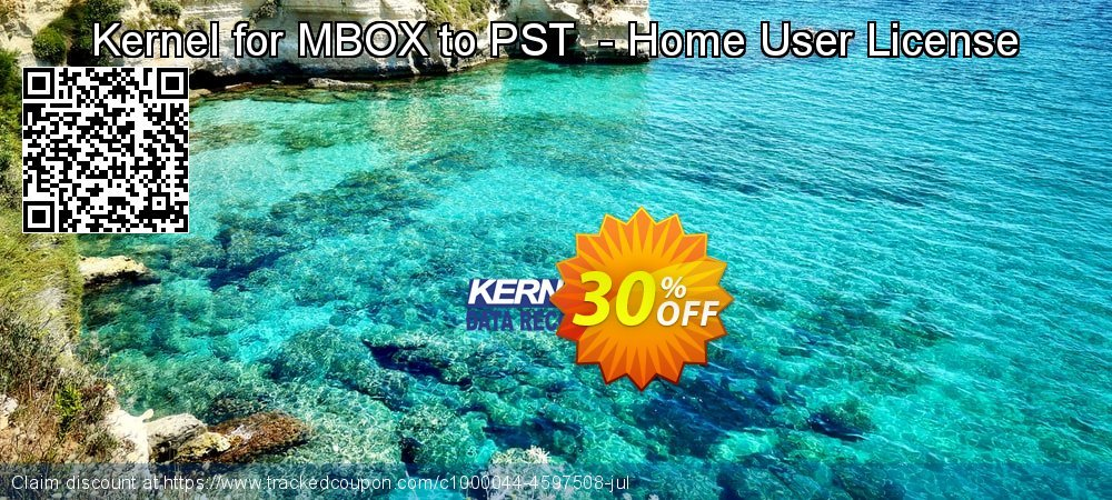 Kernel for MBOX to PST  - Home User License coupon on National Family Day sales