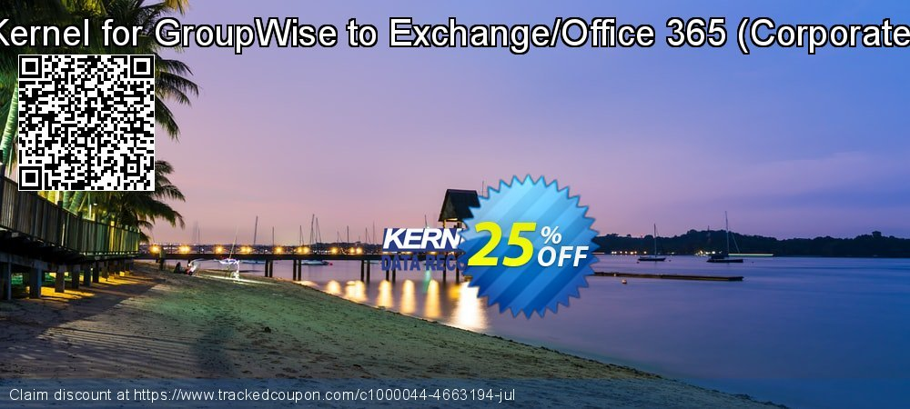 Get 10% OFF Kernel for GroupWise to Exchange ( License for (1- 200) Mailboxes ) discounts