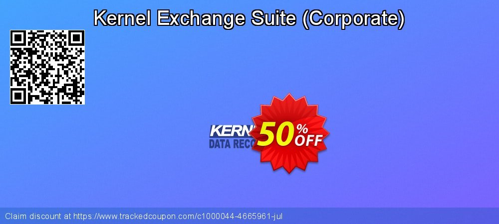 Kernel Exchange Suite - Corporate  coupon on World Bollywood Day promotions