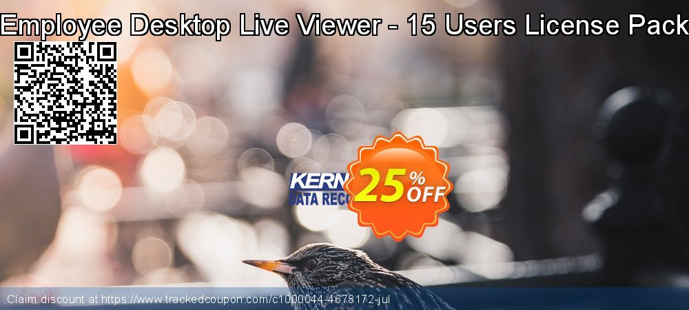 Get 10% OFF Employee Desktop Live Viewer - 15 Users License Pack offering discount