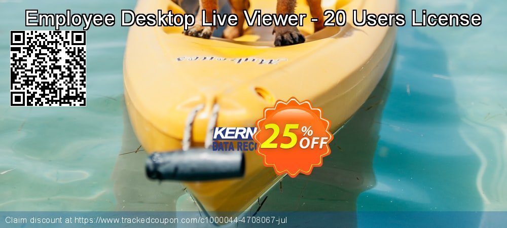 Get 25% OFF Employee Desktop Live Viewer - 20 Users License offering sales