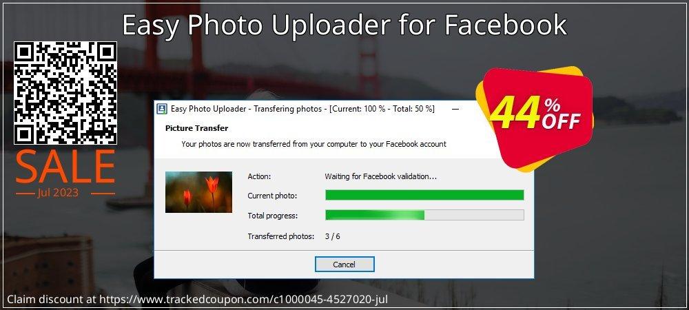 Get 40% OFF Easy Photo Uploader for Facebook offering sales