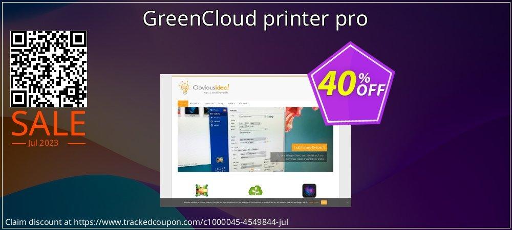 Get 20% OFF GreenCloud printer pro discounts