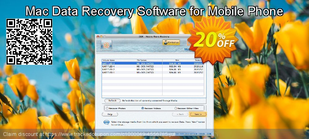 Claim 20% OFF Mac Data Recovery Software for Mobile Phone Coupon discount March, 2019