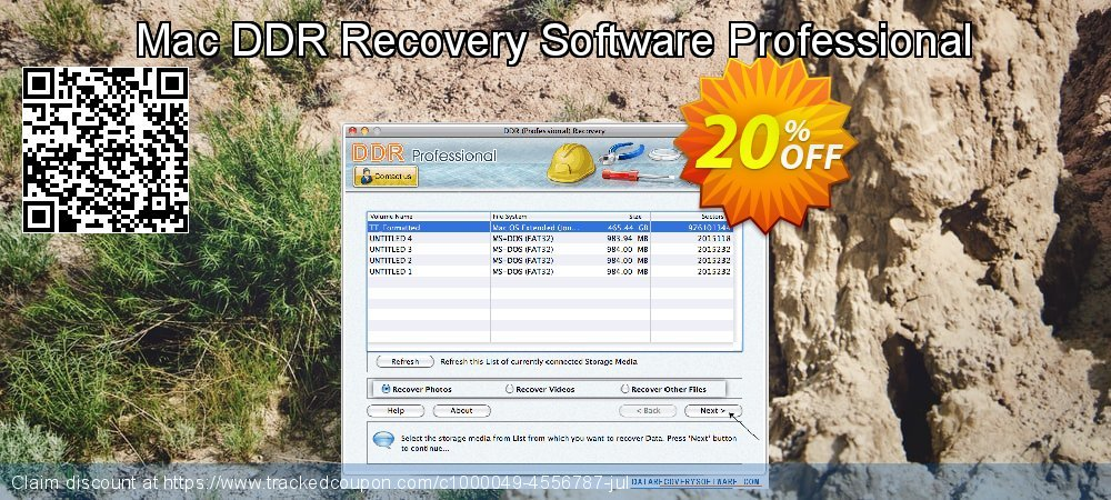 Claim 20% OFF Mac DDR Recovery Software Professional Coupon discount March, 2019
