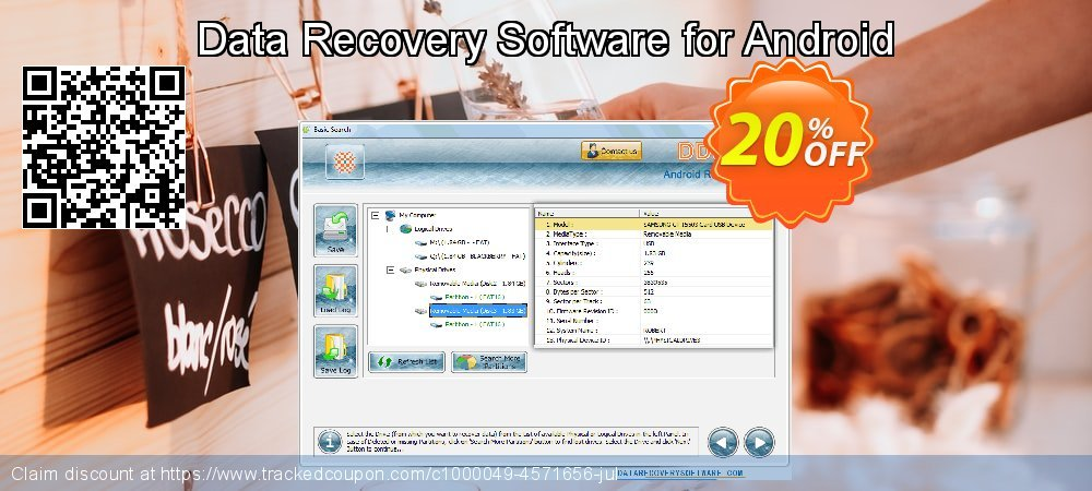Claim 20% OFF Data Recovery Software for Android Coupon discount March, 2019