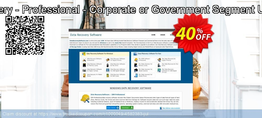 Get 30% OFF DDR Recovery - Professional - Corporate or Government Segment User License offering sales