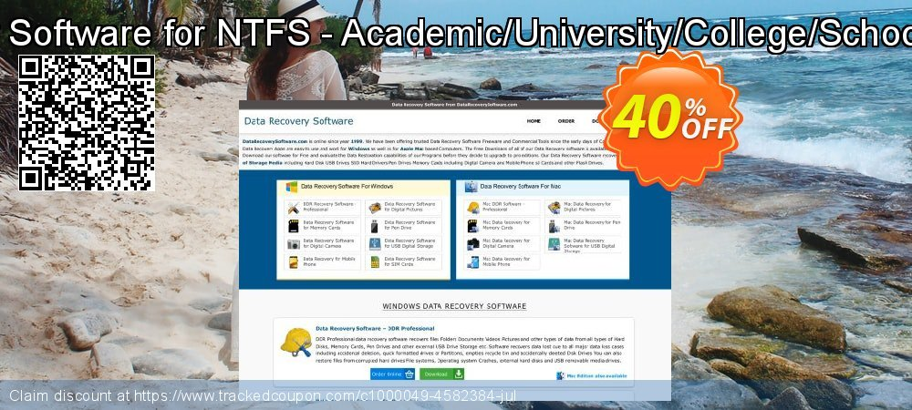 Data Recovery Software for NTFS - Academic/University/College/School User License coupon on April Fool's Day offering sales