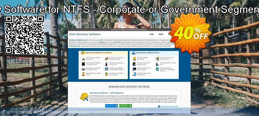 Data Recovery Software for NTFS - Corporate or Government Segment User License coupon on Easter discounts