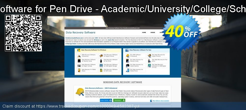 Data Recovery Software for Pen Drive - Academic/University/College/School User License coupon on Spring promotions