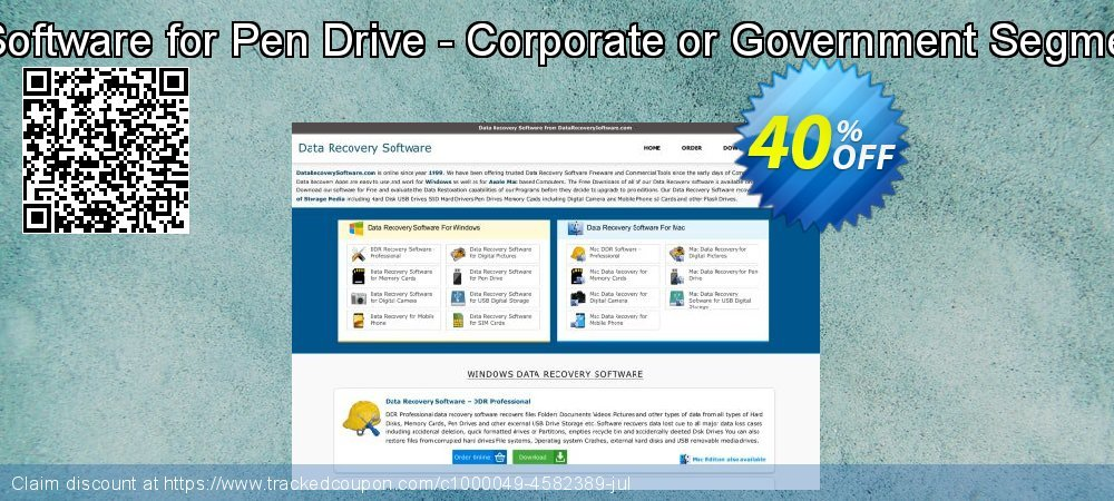 Get 30% OFF Data Recovery Software for Pen Drive - Corporate or Government Segment User License offer