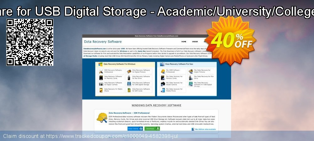 Data Recovery Software for USB Digital Storage - Academic/University/College/School User License coupon on Easter deals