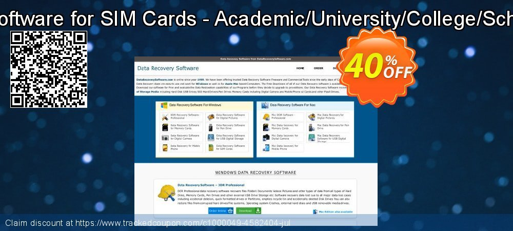 Data Recovery Software for SIM Cards - Academic/University/College/School User License coupon on April Fool's Day discounts
