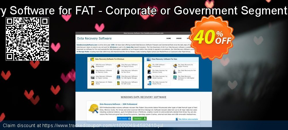 Data Recovery Software for FAT - Corporate or Government Segment User License coupon on Easter offering discount