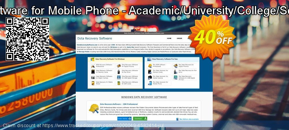 Data Recovery Software for Mobile Phone - Academic/University/College/School User License coupon on Easter promotions