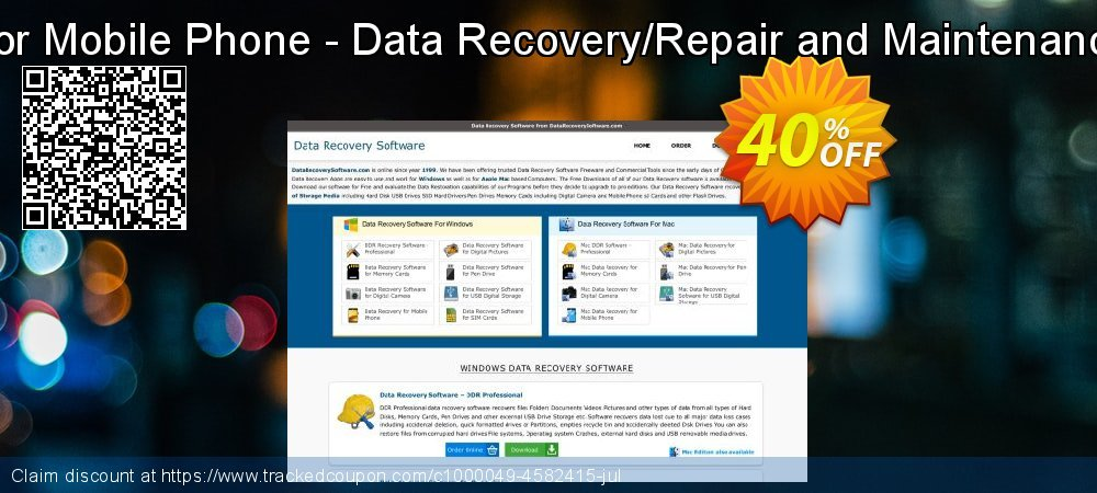 Data Recovery Software for Mobile Phone - Data Recovery/Repair and Maintenance Company User License coupon on Spring sales