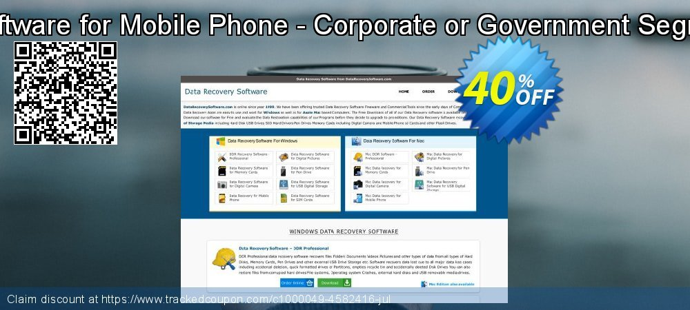 Data Recovery Software for Mobile Phone - Corporate or Government Segment User License coupon on April Fool's Day deals