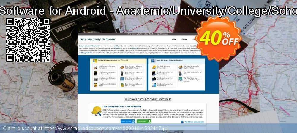Data Recovery Software for Android - Academic/University/College/School User License coupon on Easter Sunday offer