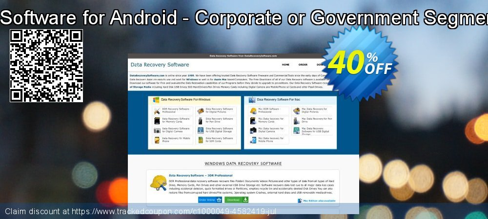 Data Recovery Software for Android - Corporate or Government Segment User License coupon on Spring offering discount