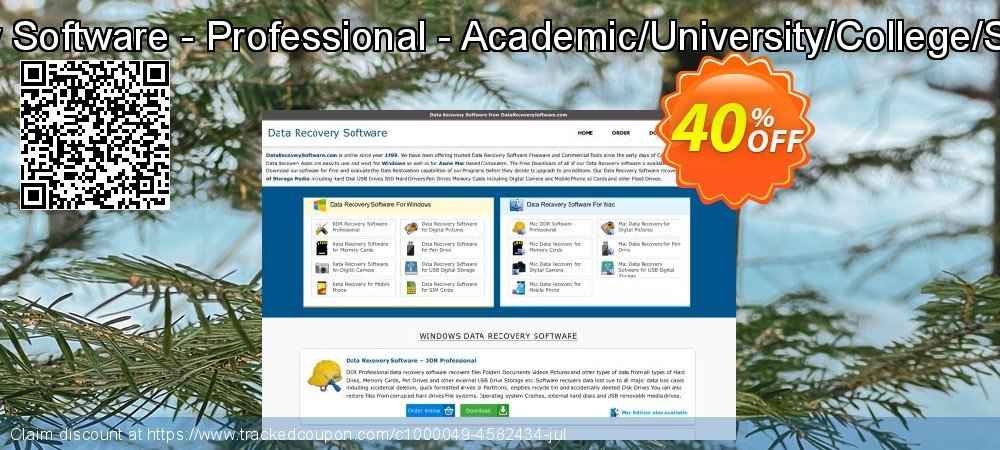 Mac DDR Recovery Software - Professional - Academic/University/College/School User License coupon on Easter deals