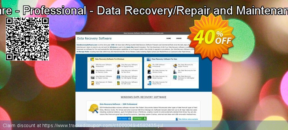 Mac DDR Recovery Software - Professional - Data Recovery/Repair and Maintenance Company User License coupon on Spring offer